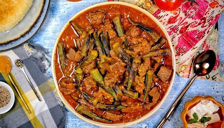 طرز تهیه خورشت بامیه با گوشت و مرغ و راز خوشمزه شدن آن