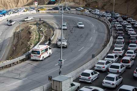 تردد خودرو در جاده ها امروز هم بیشتر شد
